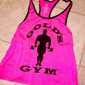 🖤💕Hot Pink+Black Gold's Gym Official Tank💕🖤
